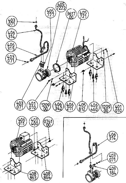 Xeos 220 V Motor Pump Assembly